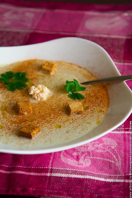 Суп из цветной капусты - фото