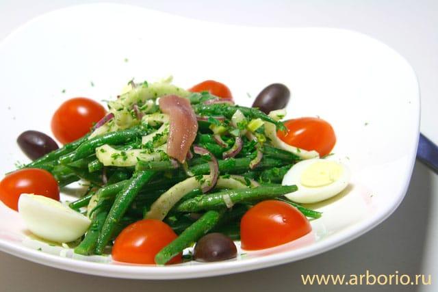 Салат из стручковой фасоли - фото