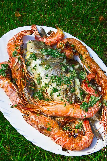 Рыба и морепродукты на гриле рецепт с фото