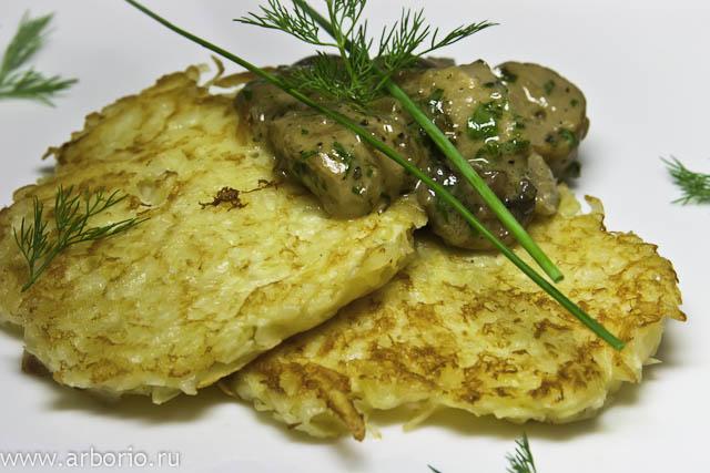 Картофельные оладьи - фото