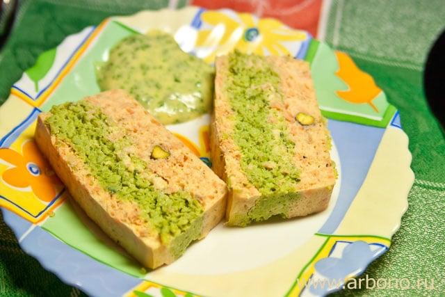 Террин из лосося с зеленым горошком - фото