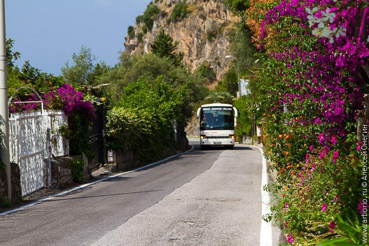 Адские дороги Амальфитанского побережья - Италия фото