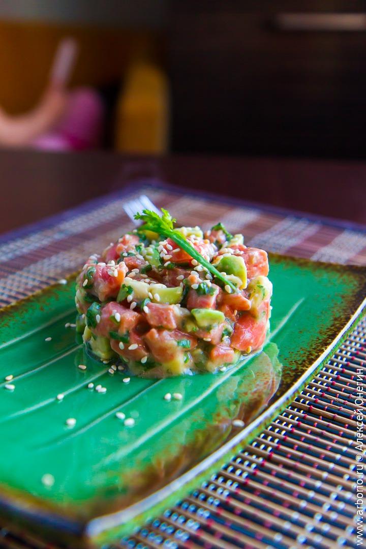 Тартар из лосося в азиатском стиле - фото