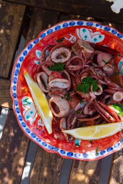 Жареные кальмары - фото