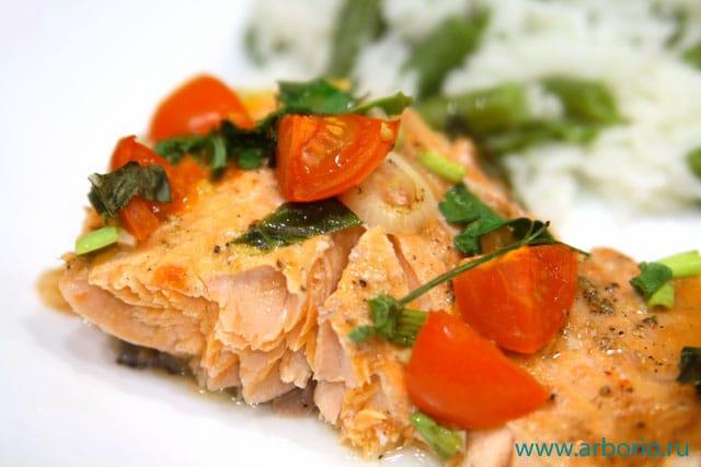 baked trout fillet Форель, запеченная другим манером.