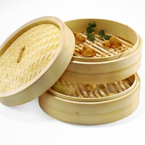 bamboo steamer О варке на пару.