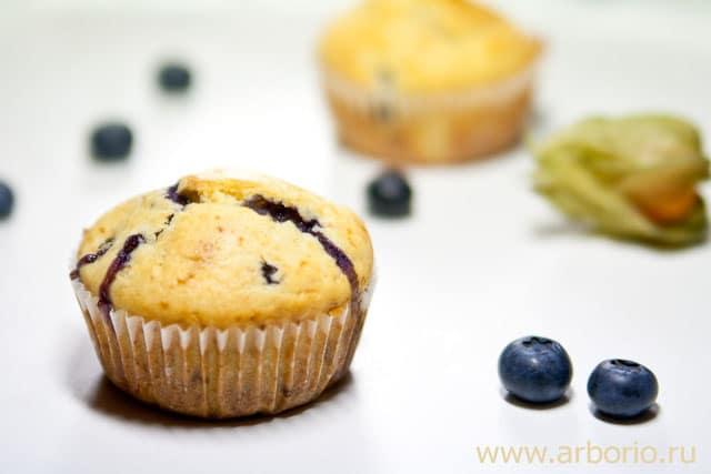muffins Маффины с черникой.