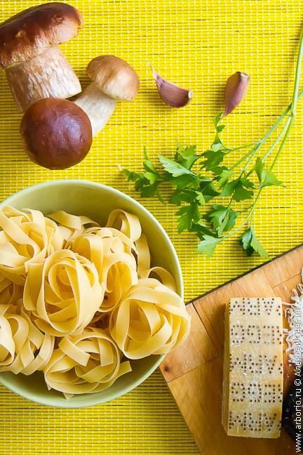 pasta con porcini 1 Папарделле с белыми грибами