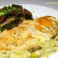 Сочные куриные грудки со сливочным соусом