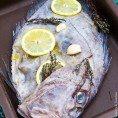 Рыба с лимоном и тимьяном